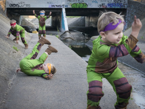 Ninja Turtle training